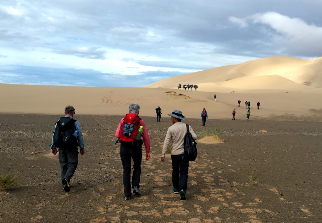adventure trekking in the gobi desert