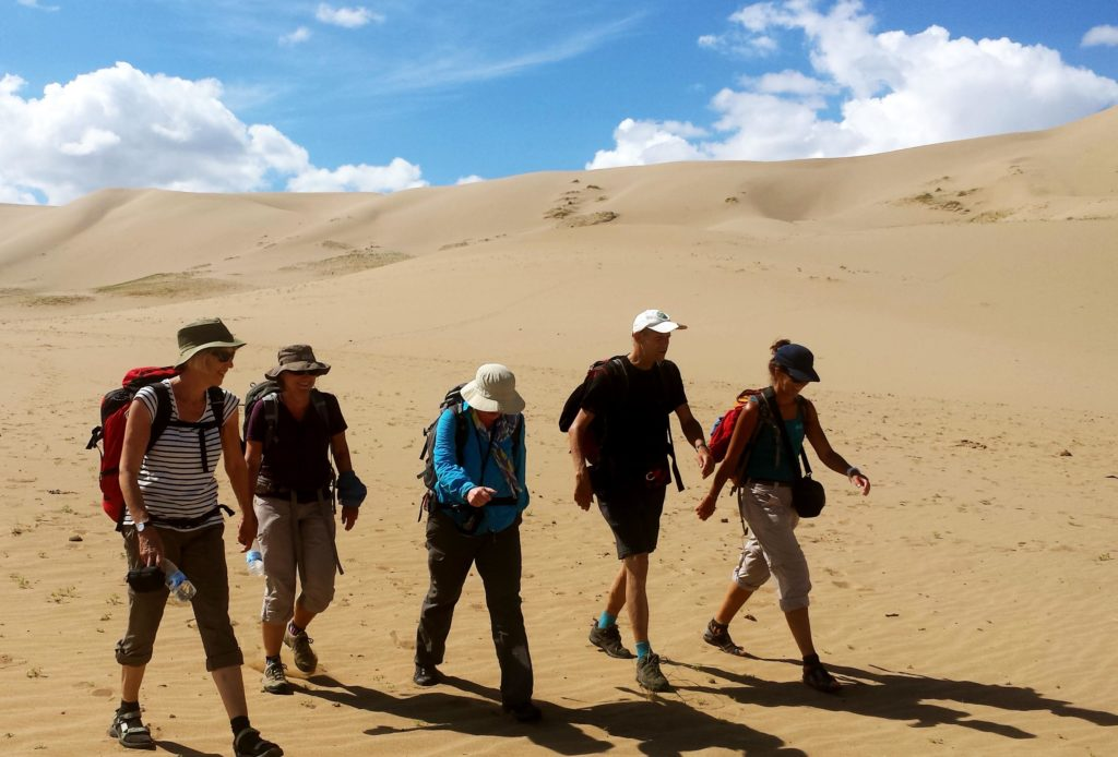 Our guests always enjoy when they go hiking in the Gobi Desert and they feel the serenity.
