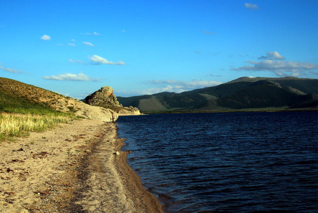 Great White Lake in Arkhangai province