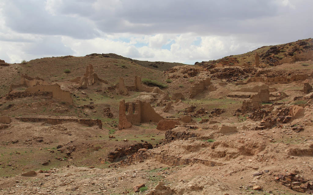 Ongi temple ruin in the Gobi Desert
