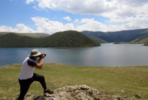 Trekking and driving in the Gobi Desert and Eight lakes